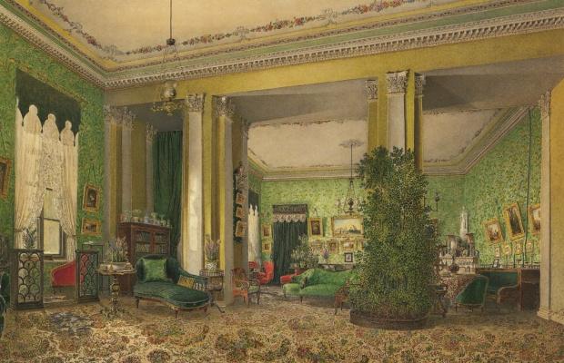 Интерьер гостиной в доме князей Галицыных