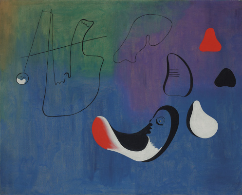 Joan Miro. Peinture (from collage)