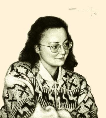 Nikolai Nikolayevich Sednin. Portrait Of Olga Tsykanovsky