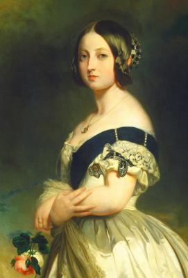 Franz Xaver Winterhalter. The young Queen Victoria. Fragment