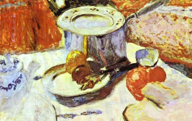 Pierre Bonnard. Still life with knife
