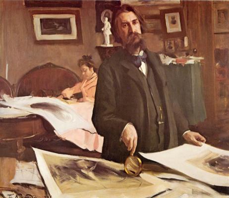 Борис Михайлович Кустодиев. Портрет Василия Васильевича Матэ