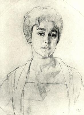 Constantin Somov. Portrait Of N. G. Vysotskaya. Sketch