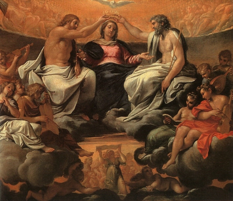 Annibale Carracci. The coronation of the virgin