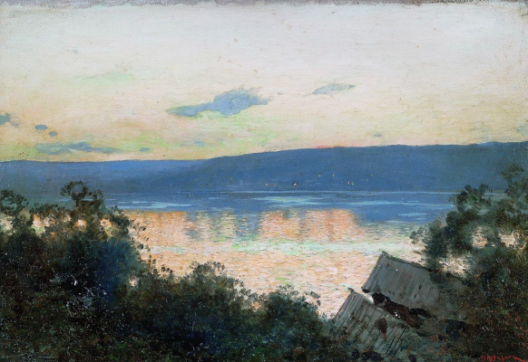 Isaac Levitan. Evening on the Volga