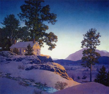 Maxfield Parrish. Winter evening