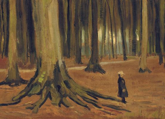 Винсент Ван Гог. Девочка в лесу