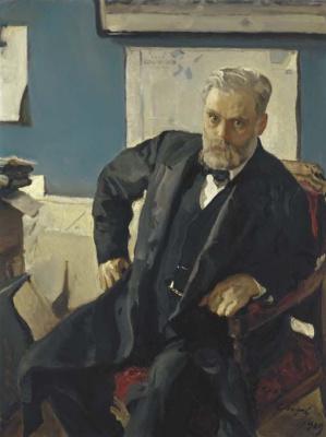 Валентин Александрович Серов. Портрет Эммануила Нобеля