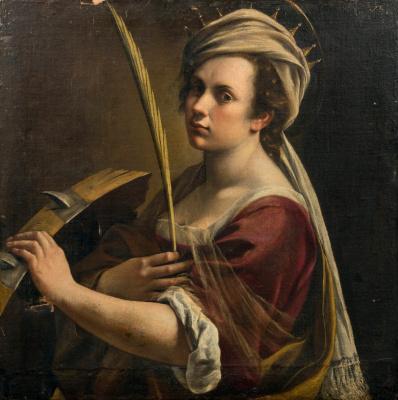 Artemisia Gentileschi. Self-portrait in the image of St. Catherine. 1614-1616