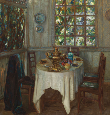 Interior with a samovar