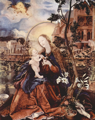 Маттиас Грюневальд. Мария с младенцем