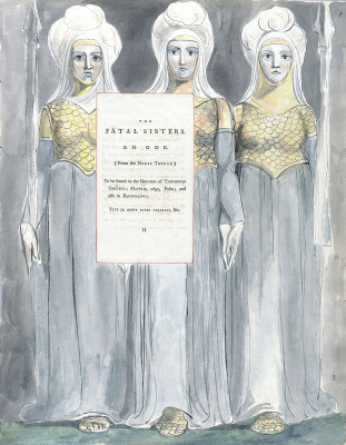 William Blake. Illustrations to the poems. The fatal sisters. Title page