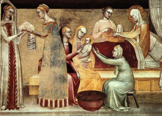 Джованни да Милано. Рождение Богородицы
