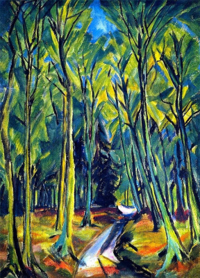 Erich Heckel. Path in the woods