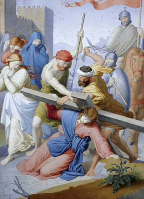 Johann Friedrich Overbeck. The path to Calvary. Carrying the cross
