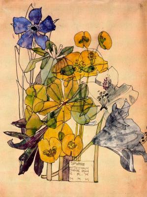 Чарльз Ренни Макинтош. Цветочный мотив 12