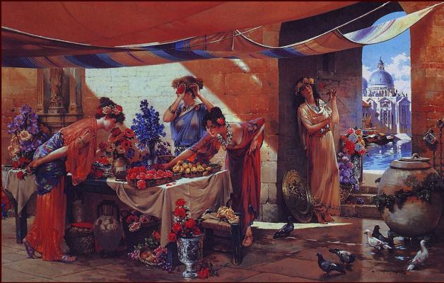 Венецианский продавец цветов