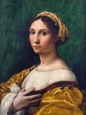 Рафаэль Санти. Портрет молодой женщины