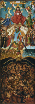 Jan van Eyck. Judgment, wing of a diptych, a fragment