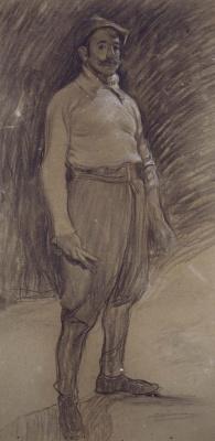 Ramon Casas i Carbó. Portrait of Mariano Benlliure
