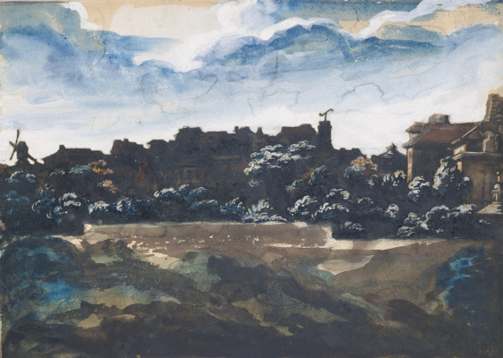 Théodore Géricault. View from the hill of Montmartre