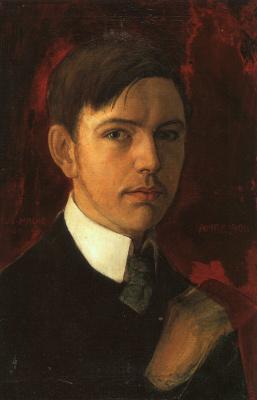 August Macke. Portrait of a man