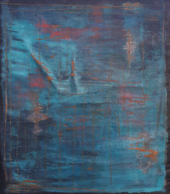 Elena Sergeevna Tachkina. Ancient blue wall