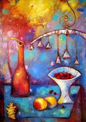 Виталий Викторович Котенджи. Still life with cherries