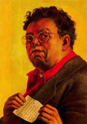 Диего Ривера. Портрет мужчины в очках