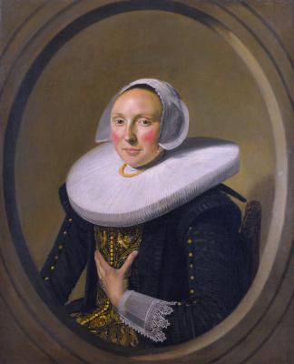 Frans Hals. Portrait of a woman. Maria LARP