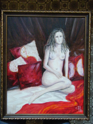 Nude red pillows