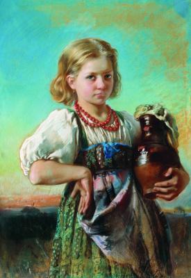 Konstantin Makovsky. Girl with a pitcher