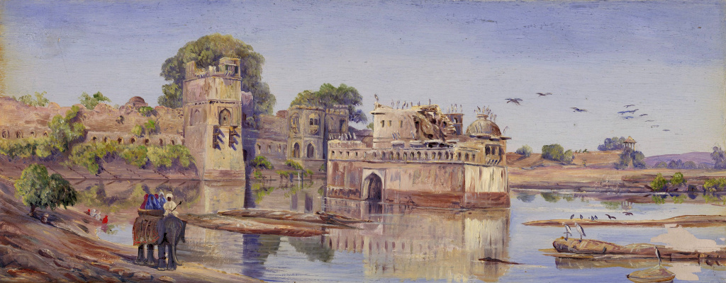 Marianna North. Padmini Water Palace in Chittaugarh, Rajasthan, India