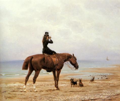 Жан Ричард Гоуби. Вид на море