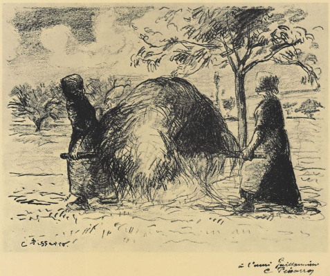Camille Pissarro. Women carrying hay