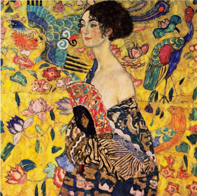 Gustav Klimt. Girl with a fan