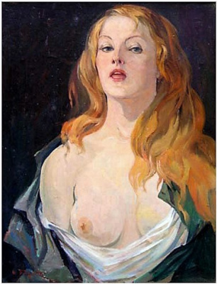 Albert Tsovyan. Portrait of a woman - 1963 oil on canvas - 66.0 x 50.0.