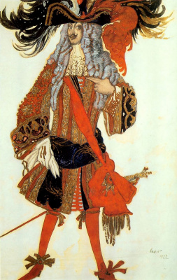 "Lev Samoilovich Bakst (Leon Bakst). Costume design Mentor the Prince to the Tchaikovsky ballet ""the Sleeping Princess"""
