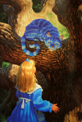 Greg Hildebrandt. Meeting with the Cheshire cat
