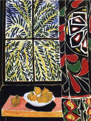 Henri Matisse. Interior with an Egyptian curtain