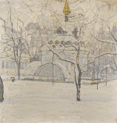 Абрам Аншелевич Маневич. Corner of Russia in the winter