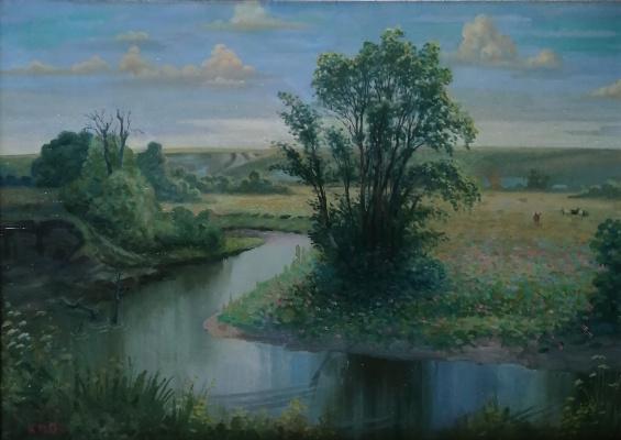 Nikolay Stepanovich Makushkin. On the Shtyrme River
