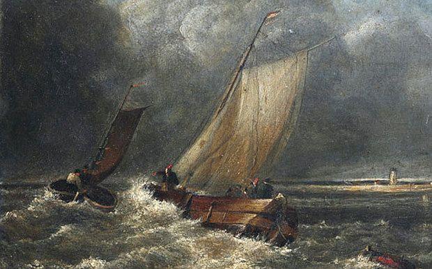 Джозеф Мэллорд Уильям Тёрнер. Рыбацкие лодки в крепкий ветер