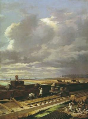 Василий Владимирович Пукирев. Строительство железной дороги
