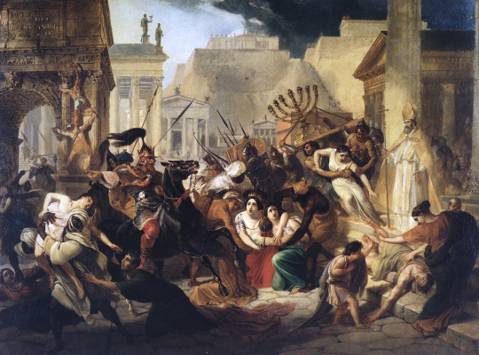 Karl Pavlovich Bryullov. Generica invasion on Rome