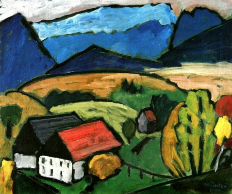 Gabriele Münter. Mountain view