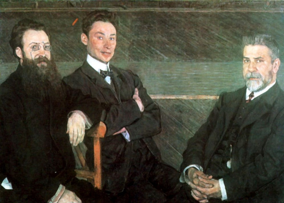 Alexander Yakovlevich Golovin. Group portrait of employees of the St. Petersburg Imperial theatres