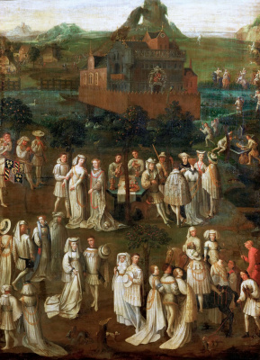 Jan van Eyck. Festivities at the court of Duke of Burgundy Philip the Good