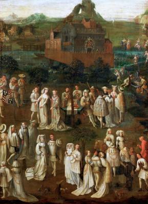 Jan van Eyck. Festivities at the court of Duke of Burgundy Philip the Good
