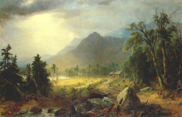 Asher Brown Durand. The first harvest in the wilderness